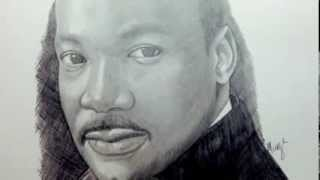 Drawing Martin Luther King Jr. - Time Lapse