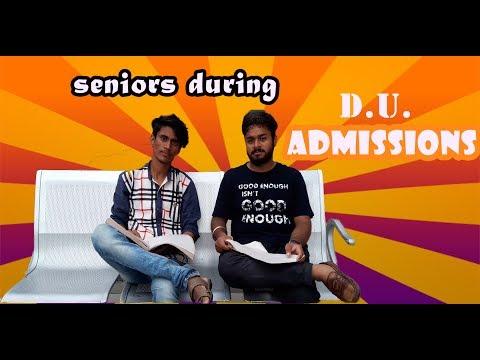 DU ADMISSIONS BE LIKE || HARAMI SENIORS || Delhi University || ShittGuyzz