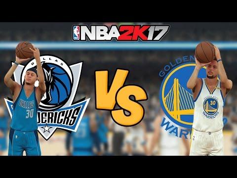 NBA 2K17 - Dallas Mavericks vs. Golden State Warriors - Full Gameplay