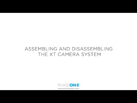 Support | Assembling and disassembling the XT Camera System | Phase One