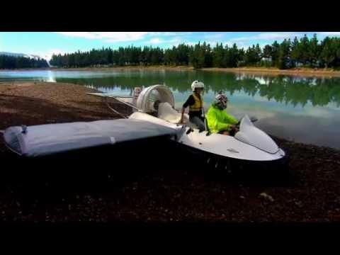 The homemade flying hovercraft
