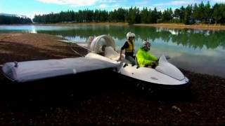 The homemade flying hovercraft