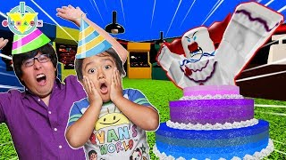 RYAN'S BIRTHDAY ! Happy Birthday Ryan Let's Play Roblox Birthday with Ryan's Daddy!