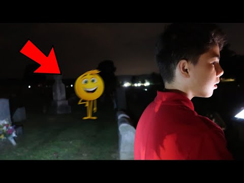 I WAS ALMOST KIDNAPPED BY GENE THE EMOJI IN THE CEMETERY! *ON CAMERA*