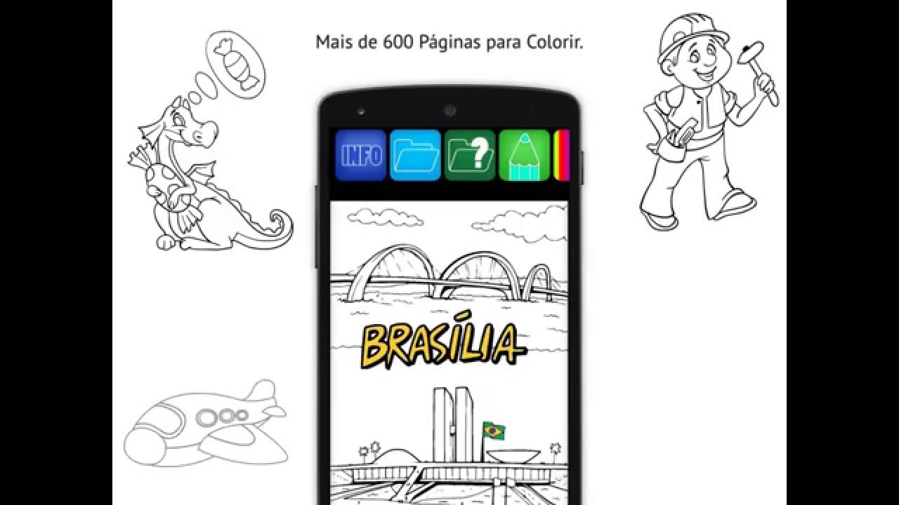 Livro Para Colorir Android And Ios App Demo