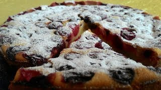 Клафути с Вишней, простой рецепт Вишневого Пирога/Klafuti