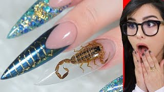 Weirdest NAIL ART that should NOT Exist 3
