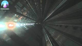 Пассажирский лифт со стеклянным полом системы - TWIN(Пассажирский лифт со стеклянным полом системы - TWIN TWIN - 2 кабины, 1 лифтовая шахта, 0 очередей. ThyssenKrupp Elevator..., 2012-09-18T10:32:50.000Z)