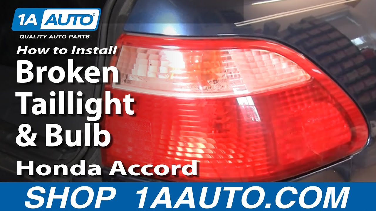 how to install repair replace broken taillight and bulb honda accord rh youtube com 2000 Honda Prelude Body Kits 1992 Honda Prelude Tail Lights