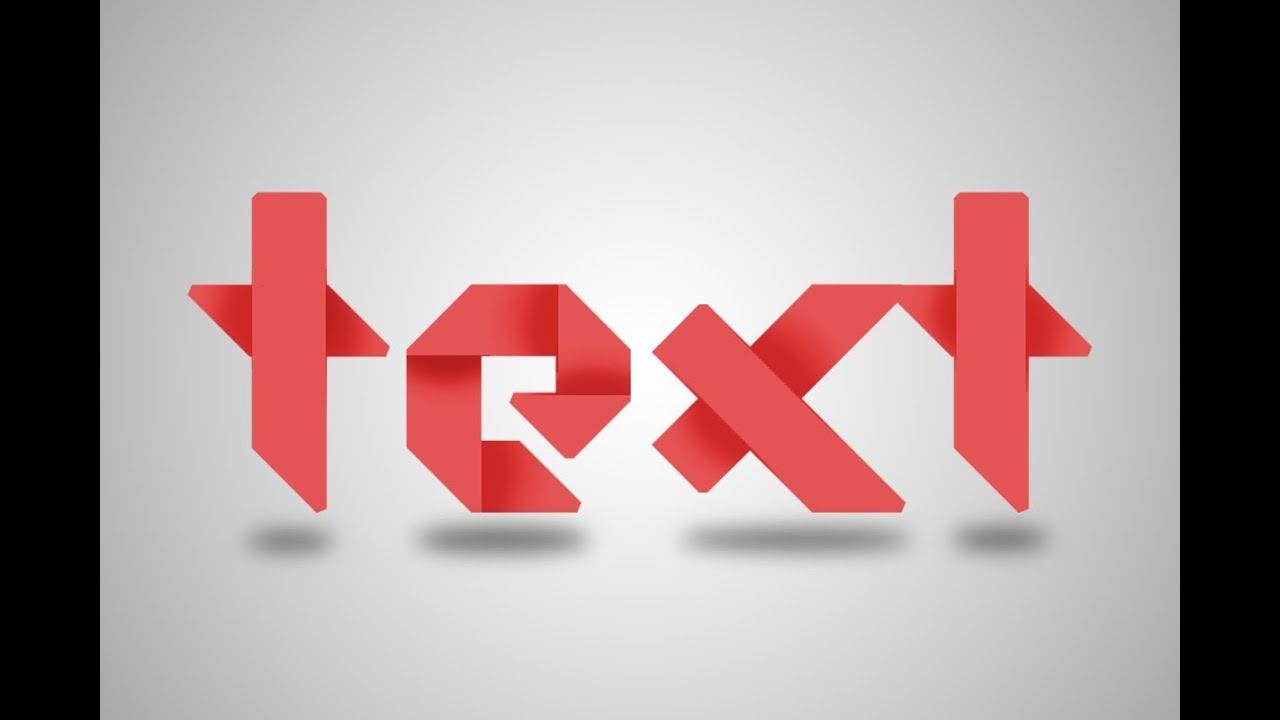 Photoshop : Folded Paper - 3d logo - Text Effect Tutorial ...