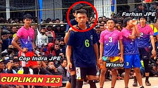 "Maman petir ""MENGGODA"" perasaan pemain Jakarta Pertamina Energi ‼tarkam 🆚️ TIKI-TAKA VOLLEYBALL"
