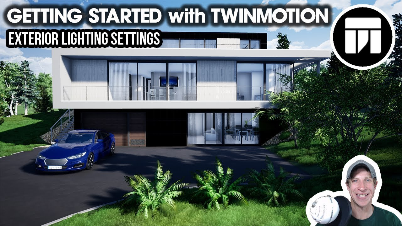 Getting Started RENDERING IN TWINMOTION (EP 7) - Exterior Lighting