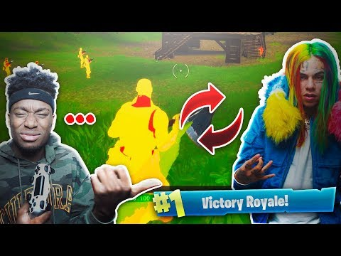 THIS FORTNITE HACKER IS 6IX9INE'S Cousin... WEIRDEST FORTNITE DUOS VICTORY OF ALL TIME!