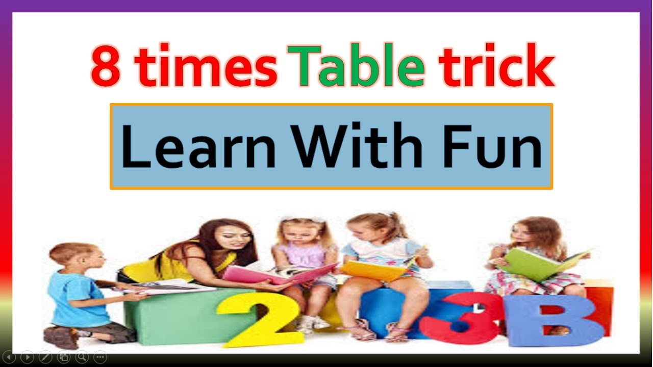 Learn with fun 8 times table trick easy way to learn 8 times learn with fun 8 times table trick easy way to learn 8 times table gamestrikefo Choice Image