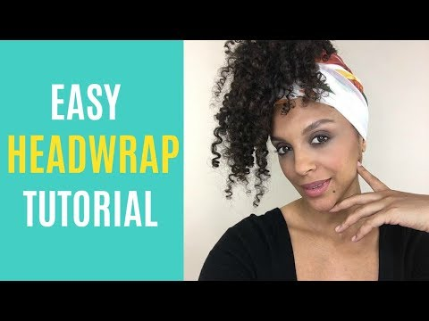 EASY HEADWRAP UPDO | ALICIA KEYS INSPIRED | DISCOCURLSTV