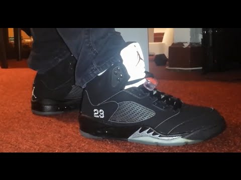 super popular d1bc4 7ca9c 2007 Air Jordan Black Metallic 5s on Feet - NEW MUSIC BY DJOB1 (READ  DESCRIPTION)