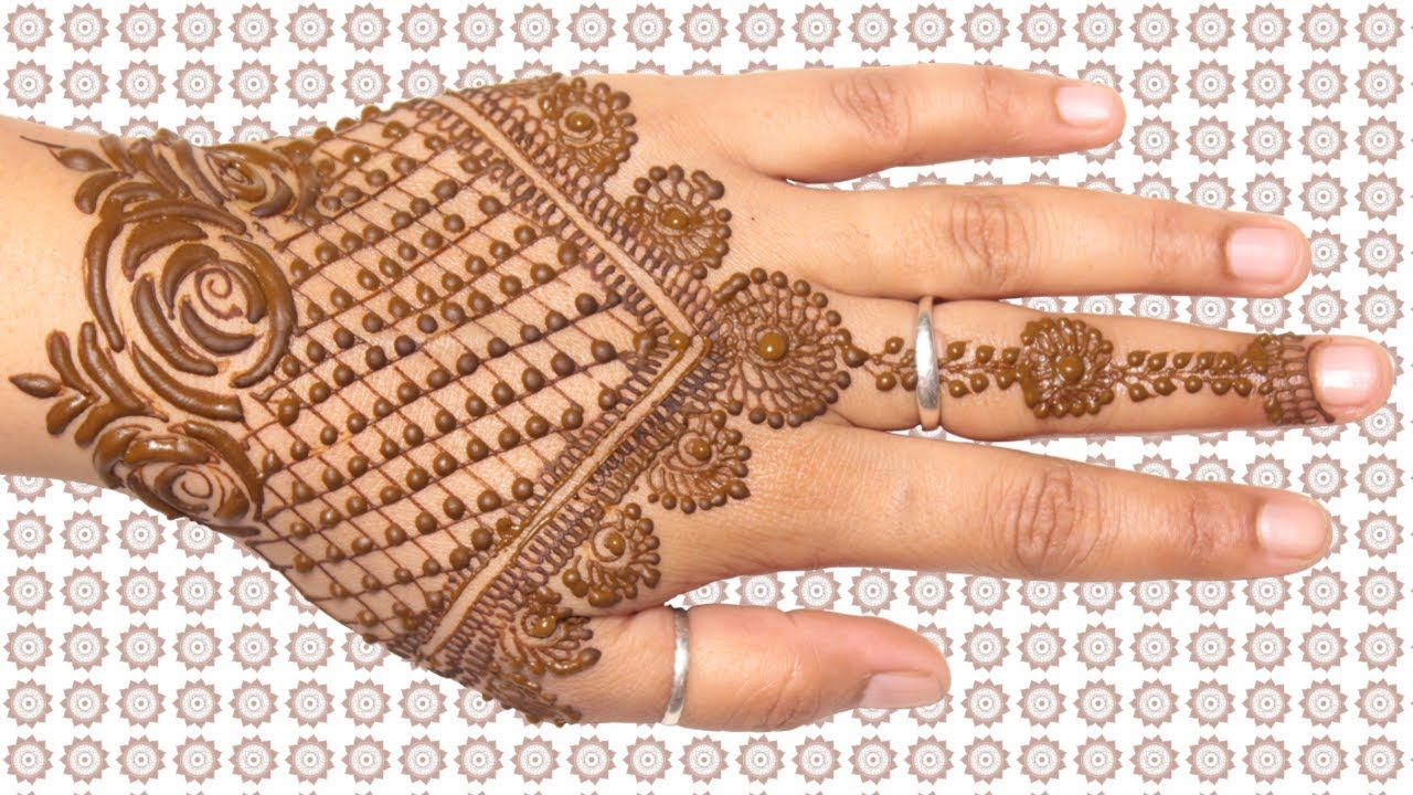 Mehndi Designs For Hands 2018 Jewellery Pattern With Rose Crown