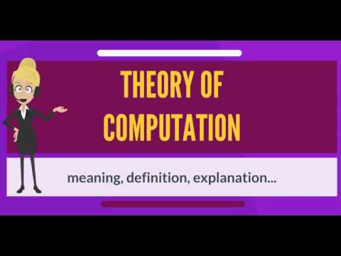 What is THEORY OF COMPUTATION? What does THEORY OF COMPUTATION mean?