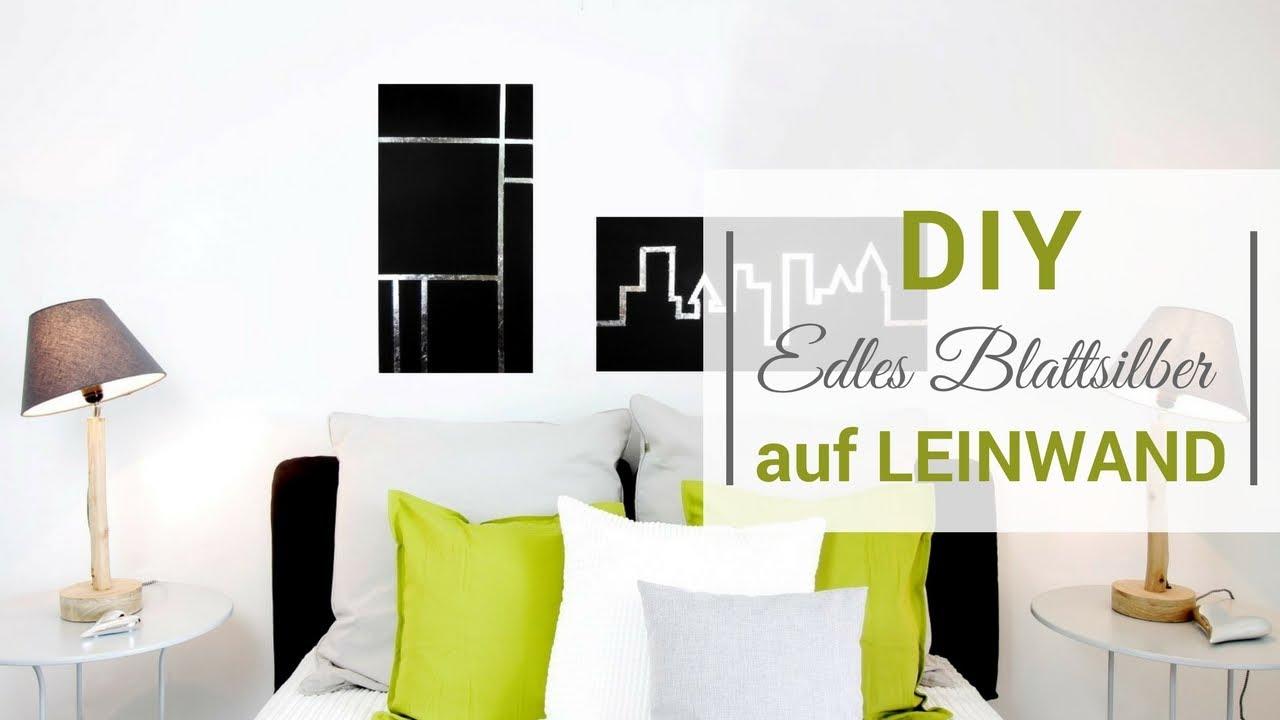 DIY Edles Blattsilber auf Leinwand - YouTube