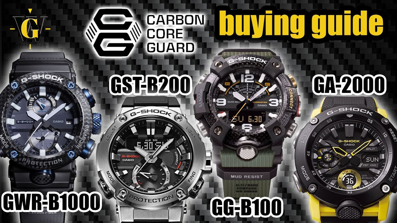 02bdfee94b Carbon Core Guard G-Shock BUYING guide - understanding the lineup
