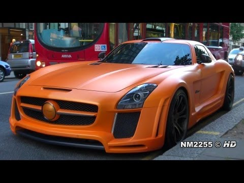 Matte Orange FAB Design Mercedes SLS AMG Lovely Sound
