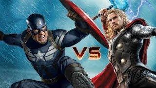 Captain America Vs thor infinity war training