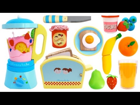 Thumbnail: Toy Toaster Playset Breakfast Learn Colors & Fruits with Wooden Velcro Toys & Play Doh for Kids RL