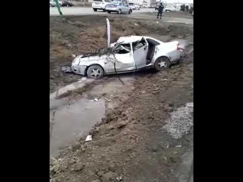 «Lada Priora» в лобовую столкнулась с КамАЗом в Атырау  - 1