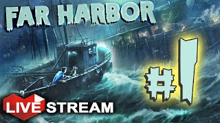 Fallout 4: Far Harbor Gameplay | Biggest Bethesda DLC Yet! | PART 1 Live Stream