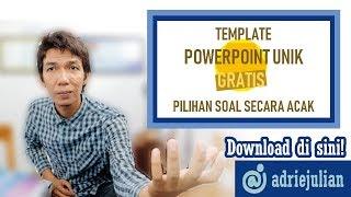 Powerpoint Unik Download Tamplate Gratis Pilihan Soal Secara Acak