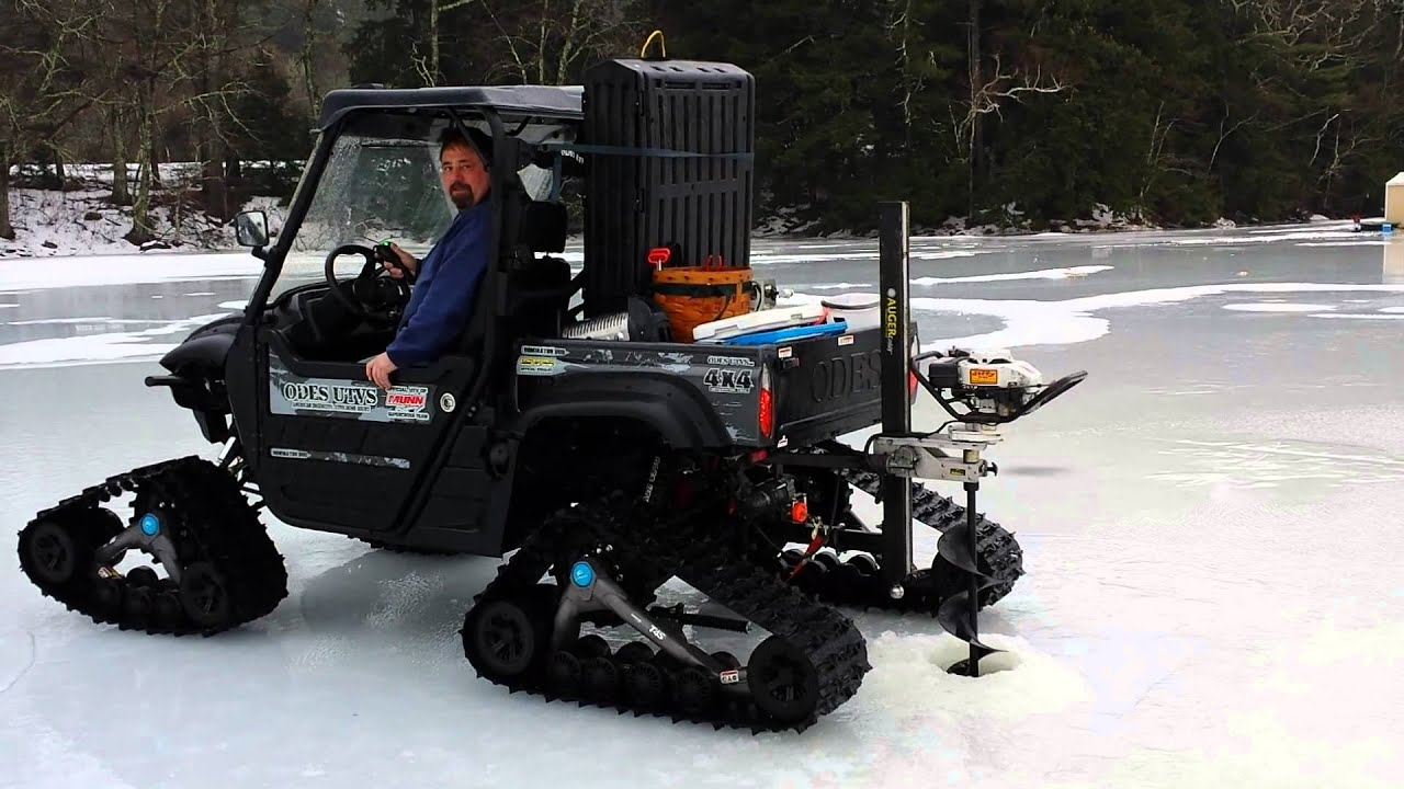 Polaris Side By Side >> Drilling ice with ease - YouTube
