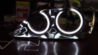 Toyota Altezza LED TTSL Angel Eyes Ангельские глазки Тойота Альтезза TAU tech(Светодиодные ангельские глазки в фары Тойота Альтезза с белым поворотником (рестайлинг) Превосходное..., 2016-03-28T06:51:18.000Z)