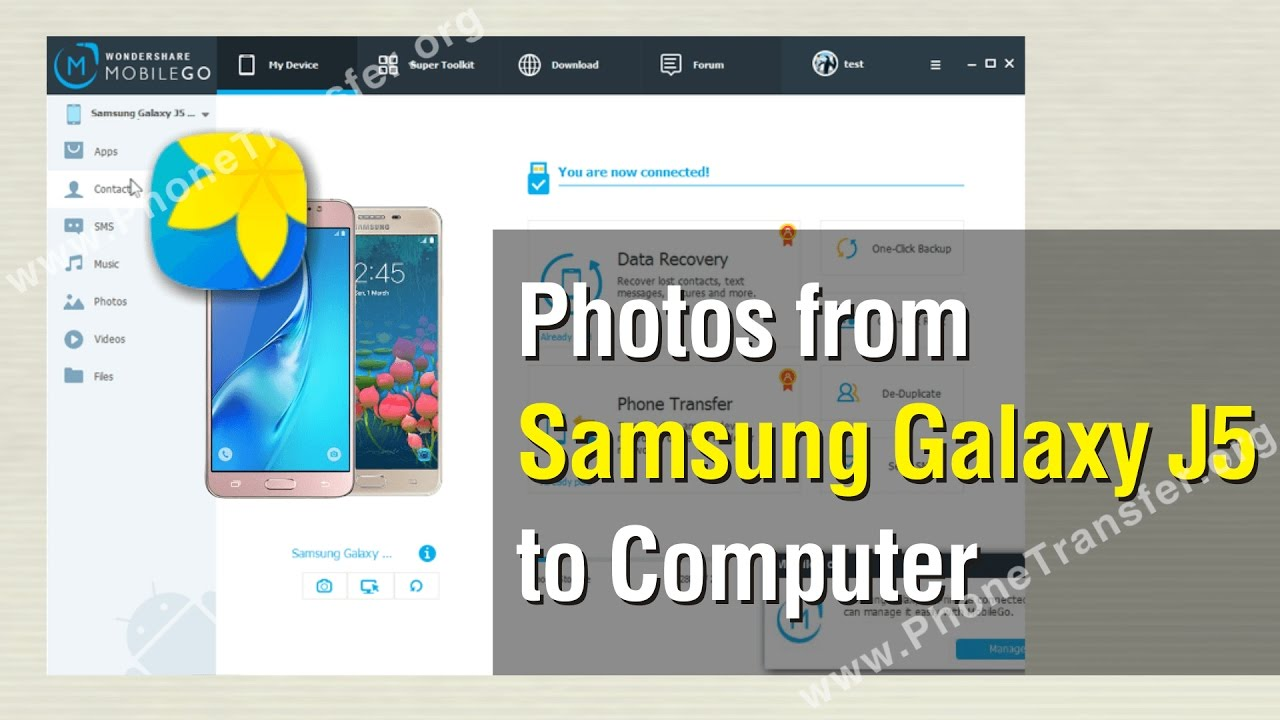 how to put photos from phone to laptop