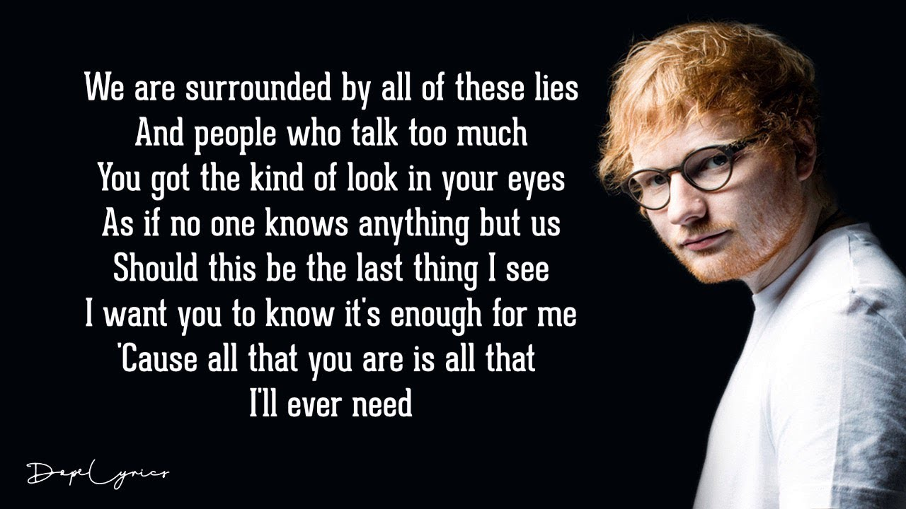 Ed Sheeran - Tenerife Sea (Lyrics) 🎵
