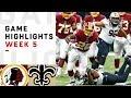 Redskins vs. Saints Week 5 Highlights | NFL 2018