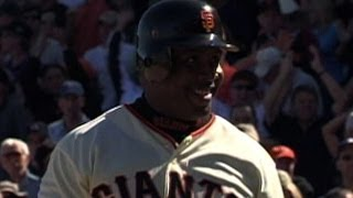 LAD@SF: Bonds launches one into McCovey cove