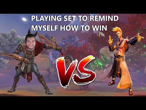 PLAYING SET TO REMIND MYSELF HOW TO WIN! Grandmasters Ranked 1v1 Duel SMITE
