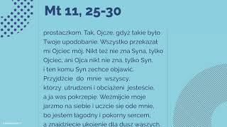 #Ewangelia | 5 października 2018 | Wspomnienie św. Faustyny | (Mt 11, 25-30)