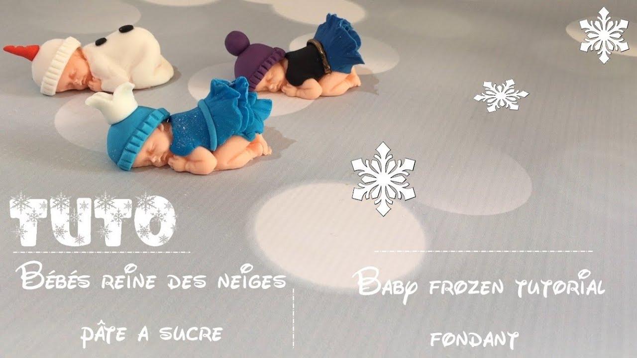 B b reine des neiges modelage baby fondant frozen tutorial youtube - La reine des neiges petite ...