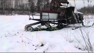 Снегоход на гусенице тайга с двигателем мотоцикла урал