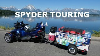 Spyder Motorcycle Touring with a Mini Mate Camper