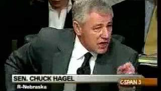 Chuck Hagel On Fire...