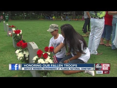 Service members remembered at Florida National Cemetery