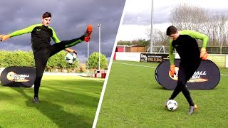 WTF?!??? COURTOIS DOES AMAZING FOOTBALL SKILLS YOU WON'T BELIEVE! 😳😳😳
