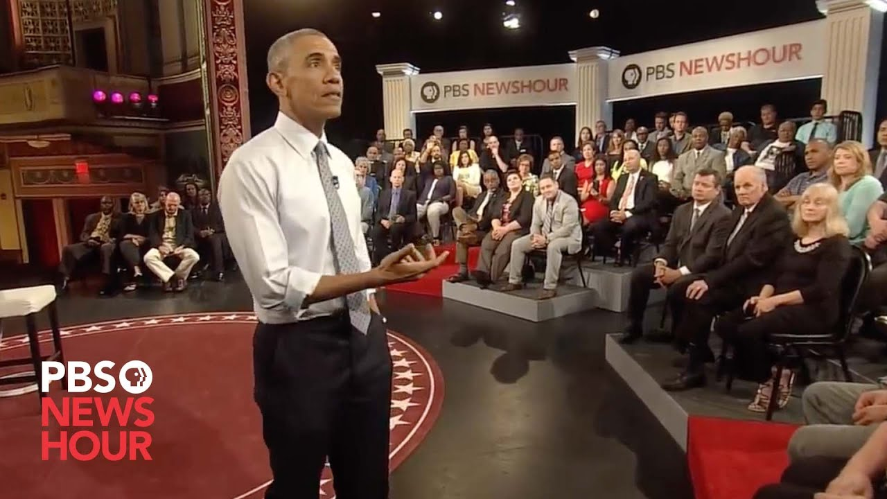 Why restrict 'good' gun owners, resident asks President Obama at town hall