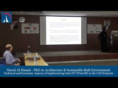 Nawal Al Hanaei - Technical and Economic Aspects of Implementing Solar/PV/Wind RE in the UAE