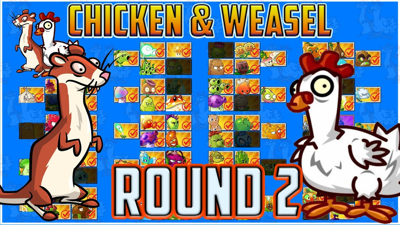 The Chicken & Weasel Tournament Level 2 - Plants vs Zombies 2 Epic Tournament