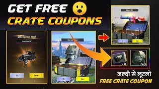 How to Get Free Crate Coupons In PUBG Mobile 100% Working Trick to Get