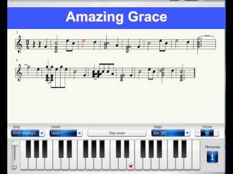 Piano amazing grace piano chords : Learn How To Play PIano: Piano Virtual Score -- Amazing Grace ...