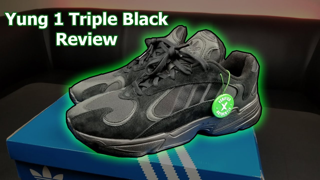 Adidas Yung 1 Triple Black Review (On Feet) - YouTube 2ef0227ad